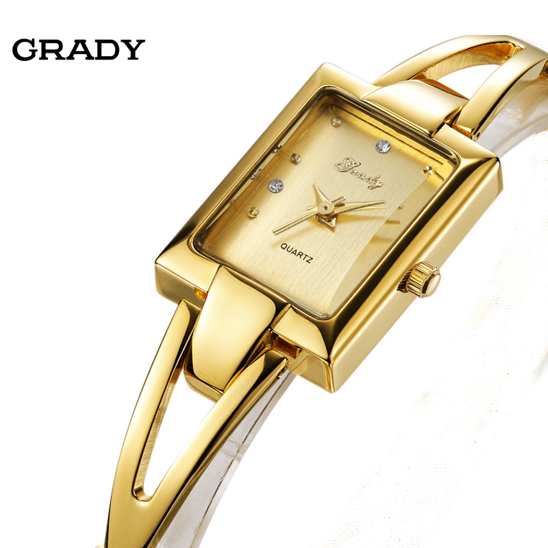 Grady Fashion ladies watch free shipping women watches Luxury top brand wristwatches new quartz watch new woman watches brand quartz watch luxury waterproof gold rose watches women fashion white ceramic watch free shipping relo