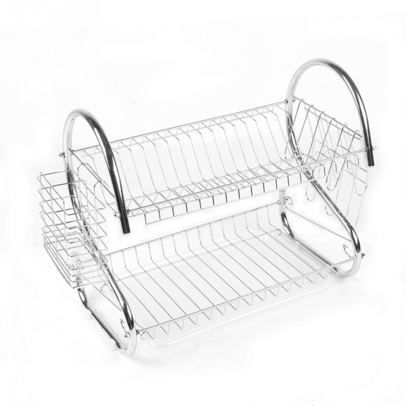 Chrome <font><b>Kitchen</b></font> <font><b>Dish</b></font> <font><b>Cup</b></font> <font><b>Drying</b></font> Rack Drainer Dryer Tray <font><b>Cutlery</b></font> <font><b>Holder</b></font> <font><b>Organizer</b></font>