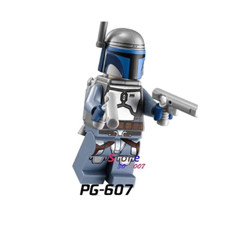 1PCS star wars superhero building blocks Clone Jet Trooper  action  sets model