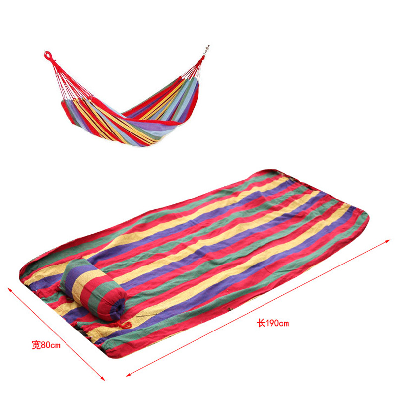 Canvas Hammock Stripe Outdoor Moisture-proof Mat Garden Hang Bed Picnic Travel Camping Swing Survival Indoor Sleeping 2017 portable nylon garden outdoor camping travel furniture mesh hammock swing sleeping bed nylon hang mesh net