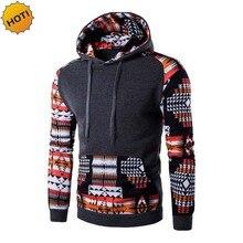 HOT 2016 indoor Autumn winter National wind Streetwear Hip Hop Patchwork Hoodies Printe hoody Mens pullover sweatshirt thelmal