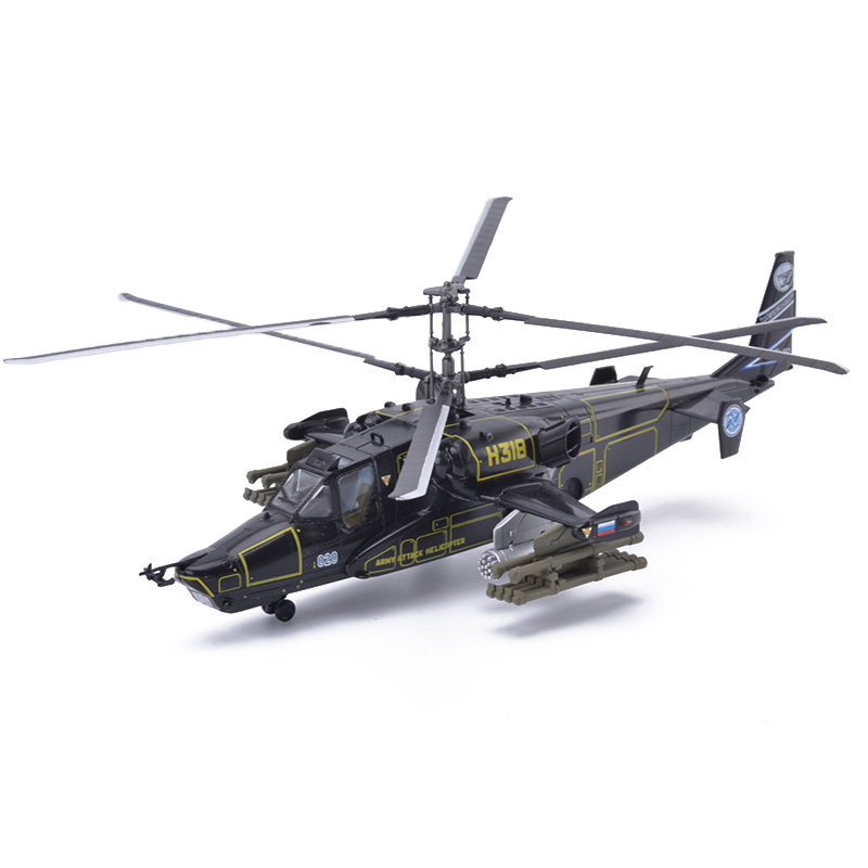 Easy Model Russian Air Force KA-50 #318 Werewolf Blackshark Helicopter Models 1/72 Scale Finished Model Toy For Collect