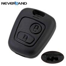 2 кнопки дистанционного ключа флип Брелок Автомобильный ключ чехол без лезвия для peugeot Partner Expert Boxer SX9 Citroen D5