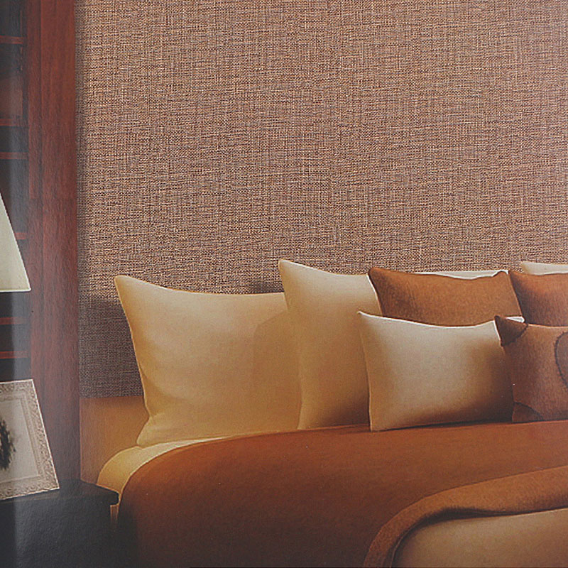 Modern Linen Grasscloth Wallpaper Designs Beige Brown Pvc