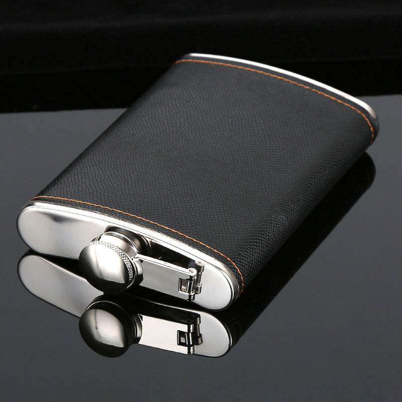 Leather Flask Stainless Steel Kit 4