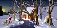 10x12ft 손으로 그린 모슬린 크리스마스 아기 어린이 사진 배경  눈 겨울 경치 좋은 신생아 사진 촬영 배경