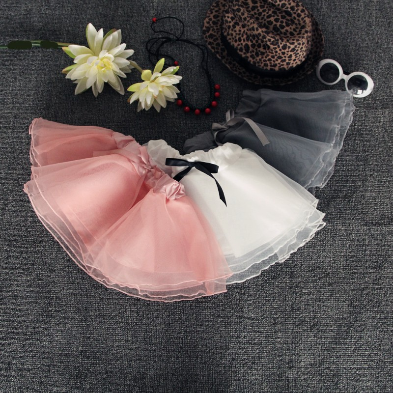 2016 New Arrival Kids Pleated Skirt Half-length Organza Veil Sweet Girl Tutu Skirt On Sale (1)