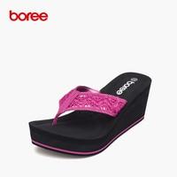 Boree Summer Women S Sandals Fashion Flip Flops Casual Shoes Soft Crochet Cloth Non Slip Thick