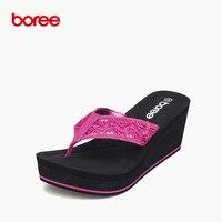 Boree 여름 여성 샌들 패션 플립 캐주얼 신발