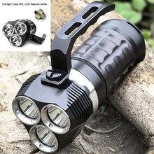 Professional Scuba Diving Flashlight Cree XPL 3000LM LED Light Underwater Searchlight 18650 Powerful LED Flashlight lanterna