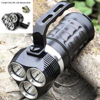 Professional Scuba Diving Flashlight 3 Modes 3000LM LED Light Underwater 18650 Powerful LED Flashlight Otary Magnetic
