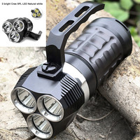 Professional Scuba Diving Flashlight 3 Modes 3000LM LED Light Underwater 18650 Powerful LED Flashlight Otary Magnetic