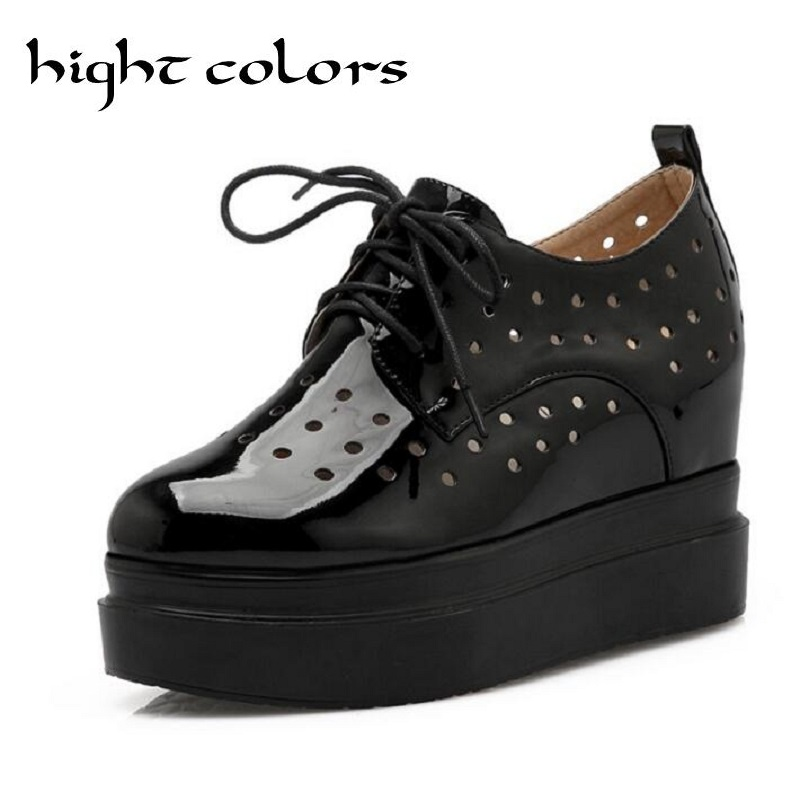 Apricot+Whie+Black Casual Breathable Height Increasing Shoes Women's Fashion Platform Wedges Shoes For Women High Heel Pumps hee grand fashion height increasing women shoes zip white black women casual pumps wedges shoes drop shipping xwc471