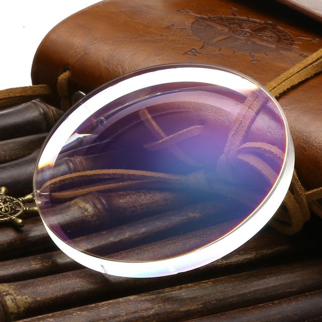 De alta calidad óptica de la prescripción 1.61 lentes Super delgadas HC asférico TCM UV lentes de resina de lentes recetados miopía real tienda de óptica