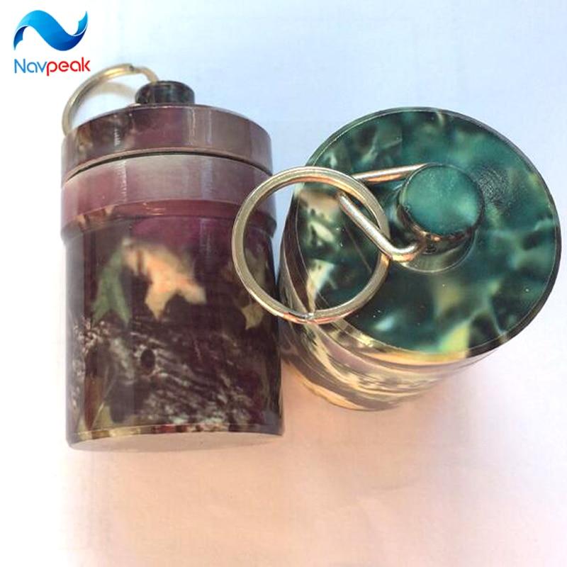 Portable Stash Pill box case medicine 48*80mm Storage Keychain Bottle Keyring metal Aluminum Waterproof Pill Bottle Container