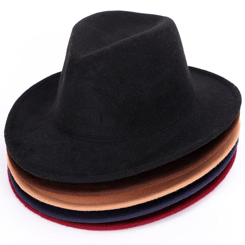 Sombrero hombre hombres Fedora sombreros Rolling serpiente cinturón moda  Otoño Invierno Caliente caps hombres mujeres Universal classic jazz judía  en ... c54ef426a58d