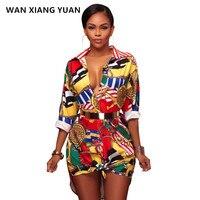 Autumn Women Tunic Tops Sexy V Neck Elegant Shirt Floral Print Blouses Shirts Ladies Long Sleeve