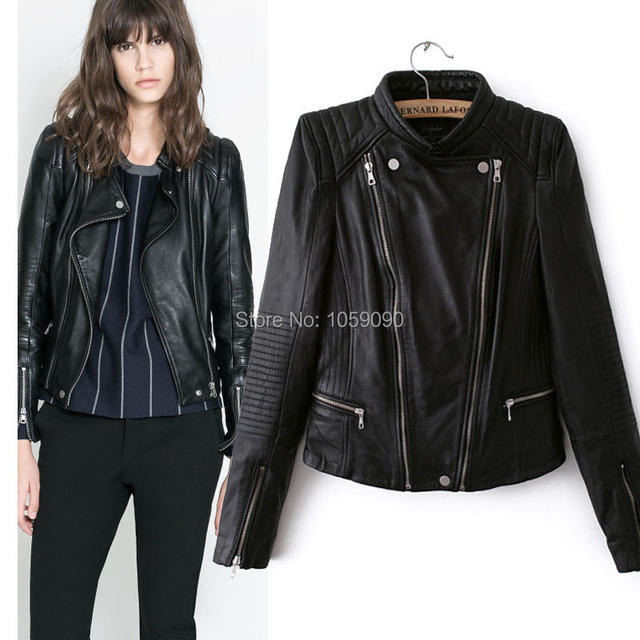 Aliexpress.com : Buy 2014 za New Women Motocyle Bomber Biker ...
