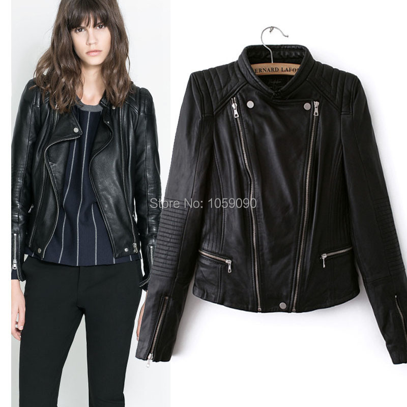 Women's short leather biker jacket lj602 – Modern fashion jacket ...