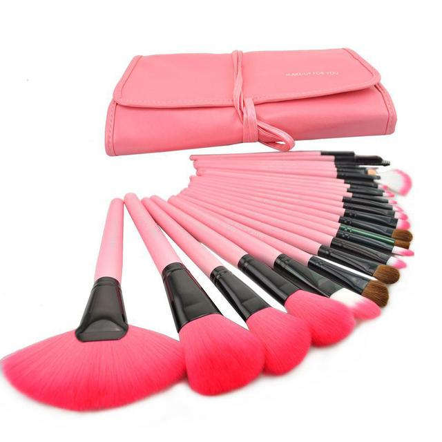 Profesional 24 unids de Cepillo Del Maquillaje herramientas maquillaje Kit del artículo de Tocador Marca Set Maquillaje Caso Brush cepillo Cosméticos Pincel Maquiagem