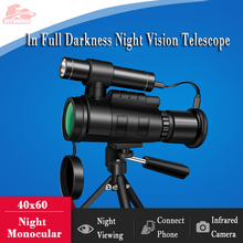 40x60 Monocular Night Vision Scope Infrared Digital Camera Connect Cellphone Photography Multi-function Viewer Telescope