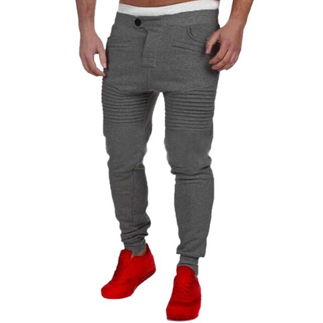 Casuales Para Hombre del Basculador Lisli Roca hombres Harem Joggers Basculador Baggy Hip Hop Sudor Sólido Otoño Pantalones Masculinos 01C0426