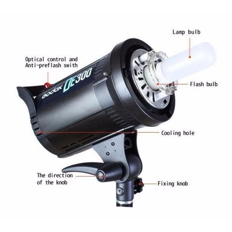 Godox DE300 300W Kompakte Studio Flash Licht Strobe Beleuchtung Lampe Kopf 300Ws 220V GN58 5600K - 5
