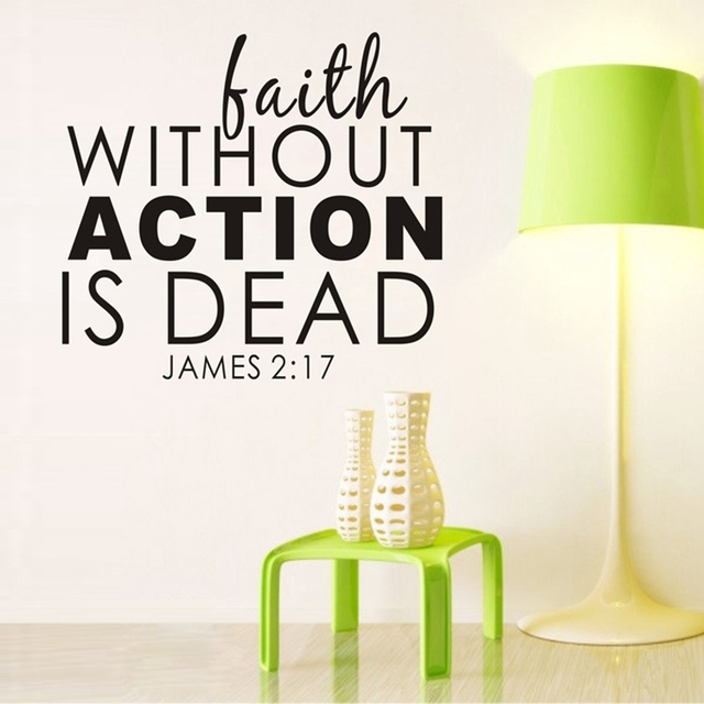 Faith Without Action Is Dead Wall Decals James Religious Faith