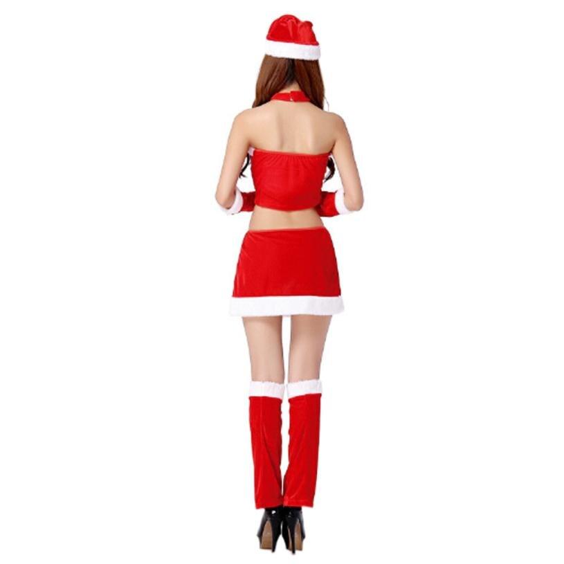 VOT7 vestitiy damas traje de Santa moda + chaleco + sombrero + ...