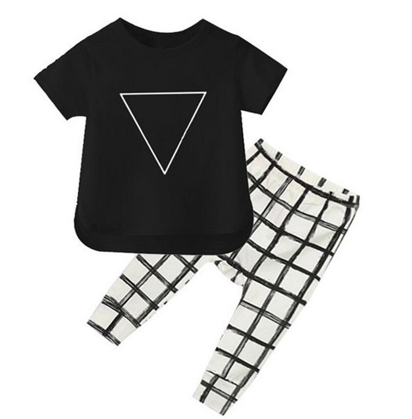 Summer fashion 2018 newborn baby boy clothes cotton short sleeve t-shirt + pants 2pcs infant clothing set bebe