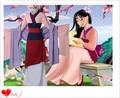 2016 Free Shipping Dis Hua Mulan Princess Costume Adult Child Cosplay Top/Dress/Belt/Shawl
