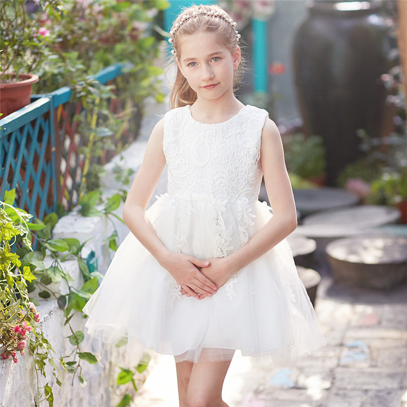 Flower Girl Wedding Gown Children Girl Clothes Lace Crochet Infant Party Prom Gown Kids Tutu Dresses For Girl Vestidos Ceremony pink flower girl dresses for kids lace long sleeves wedding party dress 2017 summer princess prom gown new children clothes