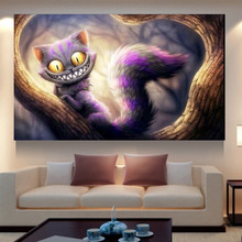 5D Round DIY Diamond Painting angry cat diy Diamond Embroidery Painting Home Decoration for bedroom people gift ZS076