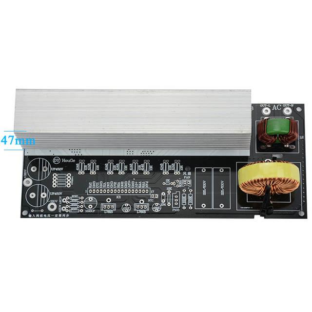 1Set 2000W Pure Sine Wave Inverter Power Board Post Sine Wave Amplifier  Board DIY Kit With Heat Sinks
