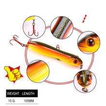YTQHXY Snake Head Pencil Bait 105mm/15g Fishing lure Floating Crankbait Sea Bass Pike Topwater 3D Eyes Plastic Wobbler YE-106