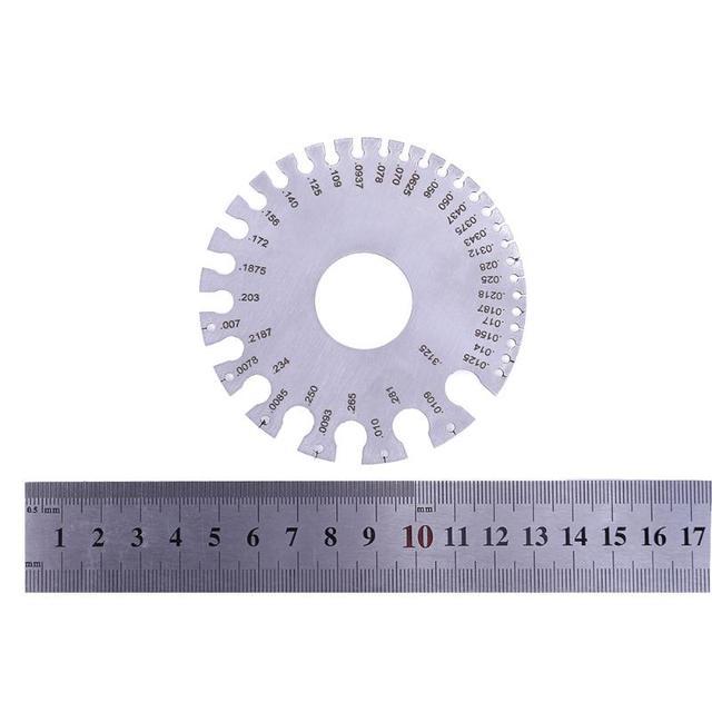 Edelstahl AWG Draht Dicke Lineal Werkzeug Messen Durchmesser Gauge 0 ...