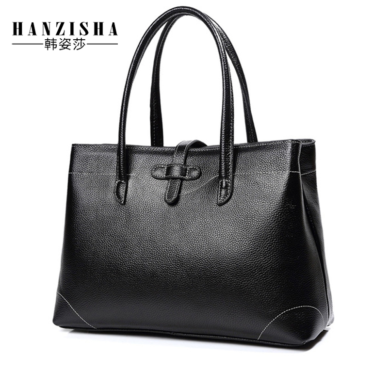 2018 New Fashion Brand Genuine Leather Women Bag Large Capacity Satchel Natural Leather Women Shoulder Bag Casual Women Tote Bag latin america 4pcs x 100ml t1351 t1332 t1333 t1334 edible ink for epson t25 tx125 tx133 tx135 inkjet printer