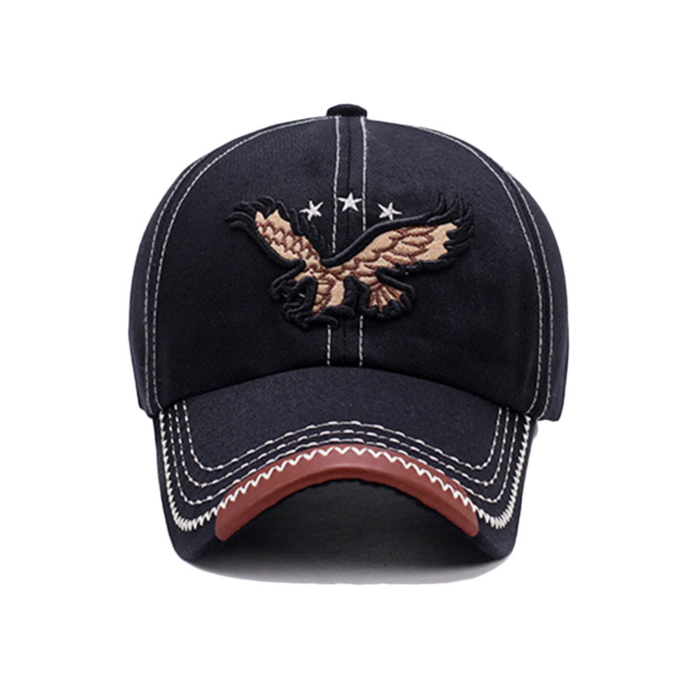 HTB1Bzvie3aH3KVjSZFjq6AFWpXa0 - New 3D Eagle Embroidery Baseball Cap Male Cap Hip Hop Flat Along Snapback Hats Baseball Cap Lovers Cap For Men & Women #30