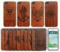 Ретро Природный Настоящее Ручной Резьбой Бамбук Дерево Обложка Case Для Iphone 6 6 s плюс 7 7 plus Wood Case + Мягкая ТПУ Кадров Case