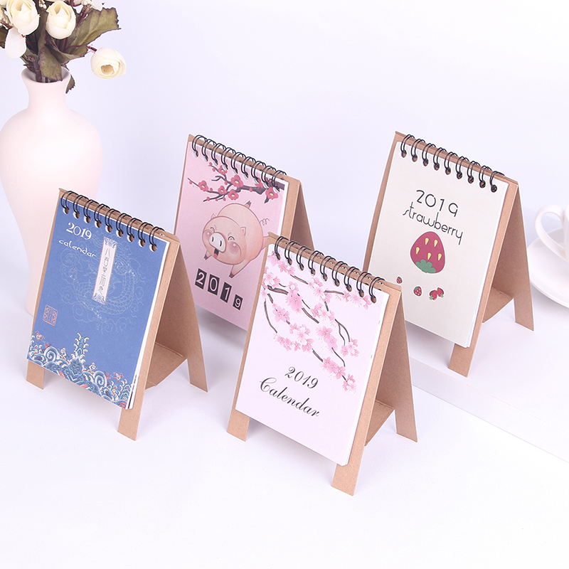 Calendars, Planners & Cards 1pc Calendar 2019 Creative Cartoon Standing Calendars Multifunction Daily Schedule Planner Notebook Agenda Organizer Calendar