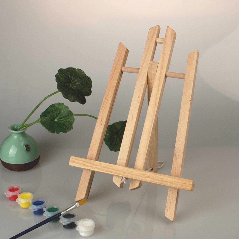 2pcs/Set 28*19cm Mini Artist Wooden Easel Wood Wedding Table for Party Decoration Card Stand Display Holder