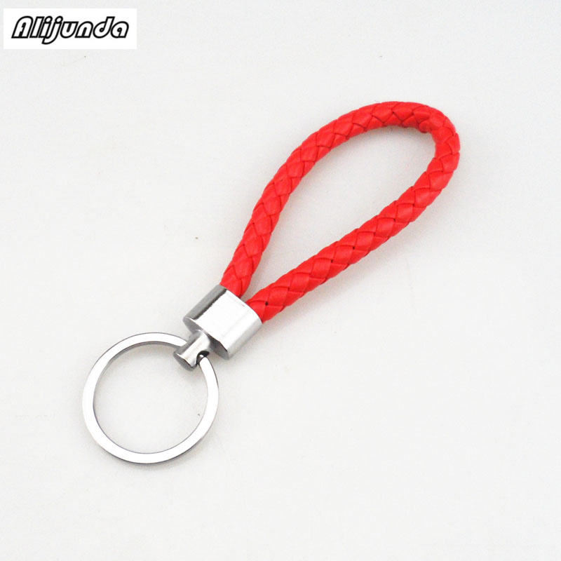 Handmade key braided rope <font><b>keychain</b></font> car chain braided rope <font><b>keychain</b></font> for Jaguar Land <font><b>Rover</b></font> <font><b>Range</b></font> <font><b>Rover</b></font>/<font><b>Evoque</b></font>/Freelander/Discove image