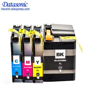 12PK LC539 LC535 LC539XL LC535XL полный чернильный картридж совместим для принтера Brother DCP-J100 DCP-J105 InkBenefit