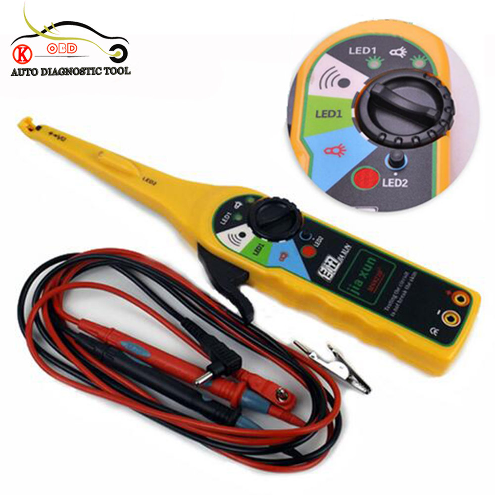 Car Voltage Regulator Testers : Yellow color car auto power electric circuit tester lamp