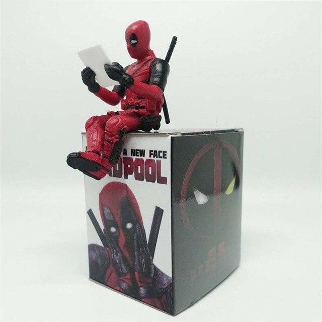 Maravilha 7 cm Encaixotado DeadPool X-MAN Super Herói Q versão Figura Modelo Brinquedos Do Carro pingente