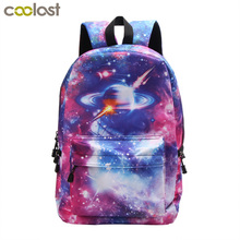 hot deal buy galaxy universe star backpack women men tavel bags teenager boys girls school backpack children school bags laptop backpacks