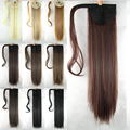 10 цветов 60 см Длинные Волосы Парик Хвост Клип На Волос Extansion Хвост Конский Хвост Шиньоны Синтетические Прямые Волосы Природных галстук