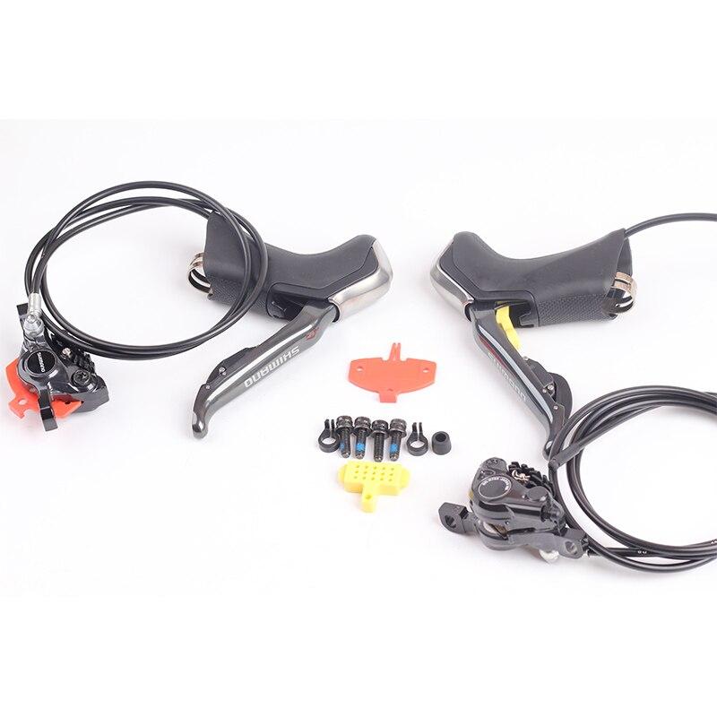 Shimano электронный Di2 Road велосипед гидравлические дисковые тормоза ST R785 Di2 Перестановка Рычаг и BR R785 ICE-TECH 1000/1700 мм
