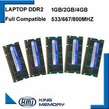 Shangona ddr2 selado de marca, 667mhz/800mhz 1gb/2gb sodimm ram de memória 200 pinos memória ram para laptop notebook garantia vitalícia