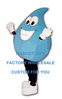 ים כחול דמות מצוירת גודל מבוגרים תחפושת קמע טיפת מים adverstising mascota חליפת תלבושת mascotte פנסי dress sw1155
